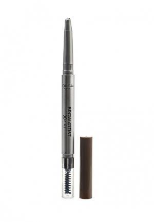 Карандаш для бровей LOreal Paris L'Oreal Brow Artist Xpert, Оттенок 105, Коричневый. Цвет: коричневый