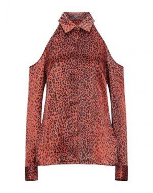Pубашка GUESS. Цвет: ржаво-коричневый
