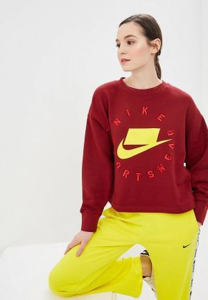 Свитшот Nike SPORTSWEAR NSW WOMENS FRENCH TERRY CREW. Цвет: бордовый