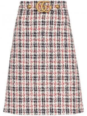 Твидовая юбка А-образного силуэта Gucci