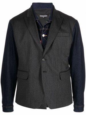 Пиджак с контрастными рукавами Dsquared2. Цвет: черный