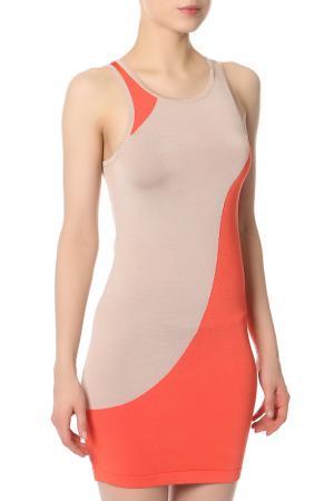 Платье Bebe. Цвет: бежевый