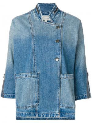 Куртка с укороченными рукавами Current/Elliott. Цвет: синий