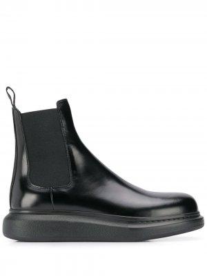 Ботинки челси на платформе Alexander McQueen. Цвет: черный