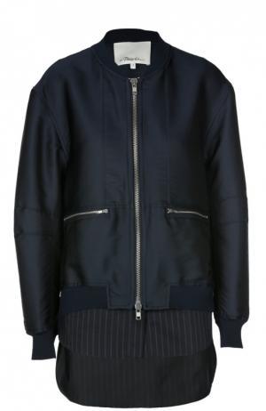 Куртка-бомбер 3.1 Phillip Lim. Цвет: темно-синий