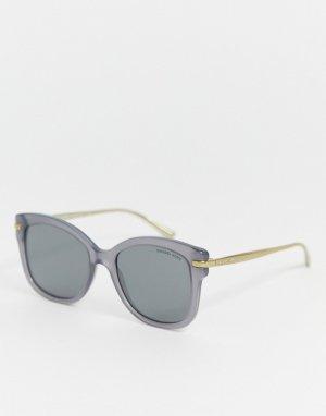 Солнцезащитные очки в квадратной оправе Michael Kors-Серый Kors