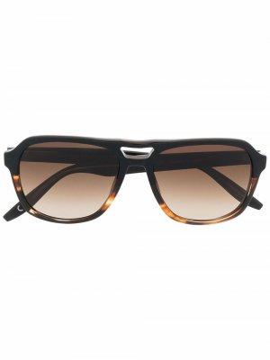 Солнцезащитные очки-авиаторы Modernist Barton Perreira. Цвет: коричневый