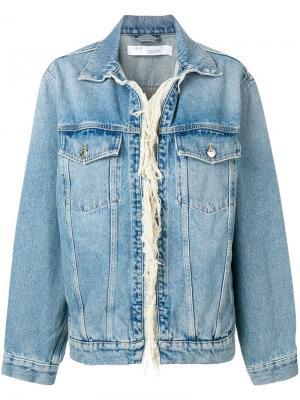 Джинсовая куртка с бахромой Iro. Цвет: синий