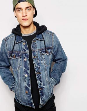 Джинсовая куртка с капюшоном Hollister