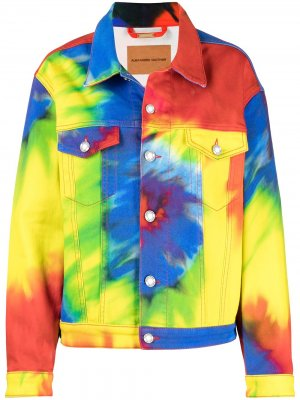 Джинсовая куртка с принтом тай-дай Alexandre Vauthier. Цвет: синий