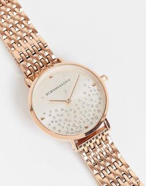 Часы со стразами BCBG Max Azria-Розовый цвет MaxAzria