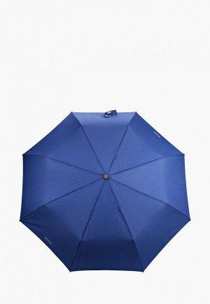 Зонт складной Moschino. Цвет: синий
