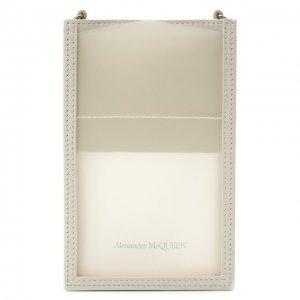 Кожаный чехол для iPhone Alexander McQueen. Цвет: белый
