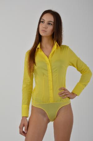 Боди LIST. Цвет: желтый