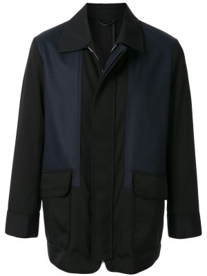 Легкая куртка в стиле колор-блок Cerruti 1881. Цвет: черный