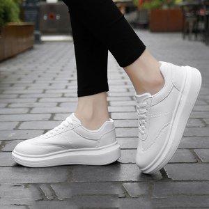 Обувь для скейтбординга минималистичный на шнурках SHEIN. Цвет: белый