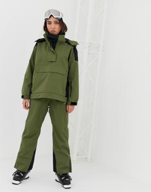 Лыжные брюки с проклееными швами -Зеленый ASOS 4505