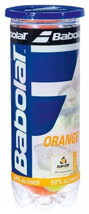 Набор мячей для большого тенниса Orange X3 Babolat. Цвет: оранжевый