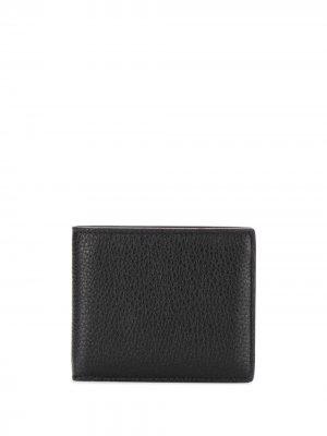 Складной бумажник Maison Margiela. Цвет: черный