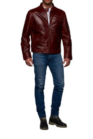 Кожаная куртка REDSKINS. Цвет: бордовый