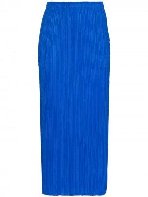 Плиссированная юбка миди Pleats Please Issey Miyake. Цвет: синий