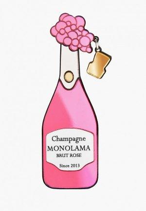 Брошь Monolama Шампаское. Цвет: розовый