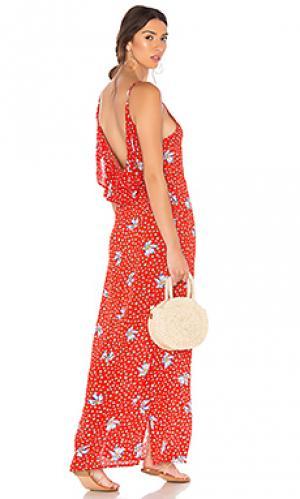 Платье mila BEACH RIOT. Цвет: красный