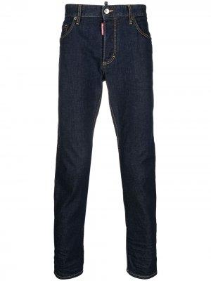 Прямые джинсы с принтом Icon Dsquared2. Цвет: синий