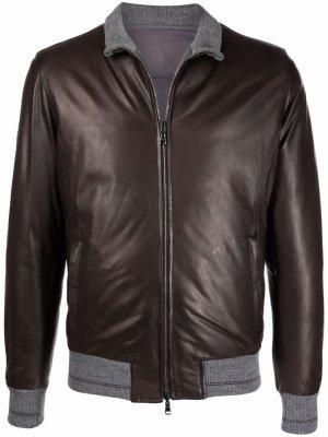 Куртка-пуховик Barba. Цвет: коричневый