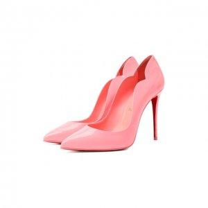 Кожаные туфли Hot Chick 100 Christian Louboutin. Цвет: розовый