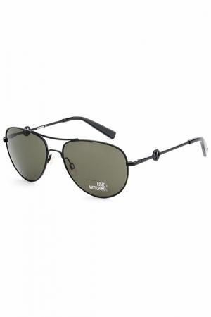 Солнцезащитные очки Love Moschino. Цвет: черный