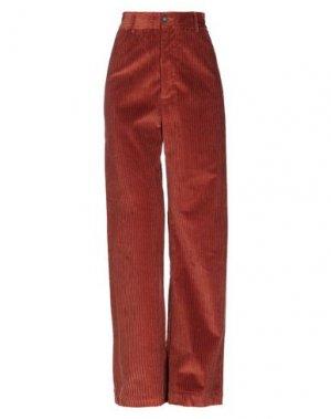 Повседневные брюки ATTIC AND BARN. Цвет: ржаво-коричневый