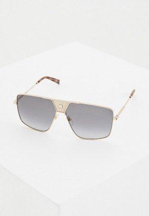 Очки солнцезащитные Givenchy GV 7162/S 2F7. Цвет: золотой
