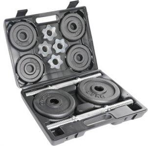 Комплект наборных гантелей в кейсе Torneo. Цвет: черный