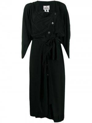 Платье миди асимметричного кроя на пуговицах Vivienne Westwood. Цвет: черный