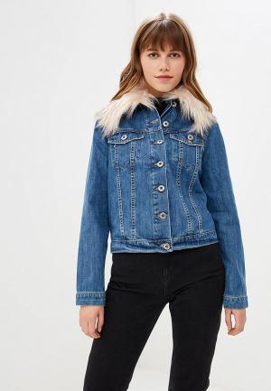 Куртка джинсовая Rinascimento Pure Code. Цвет: синий