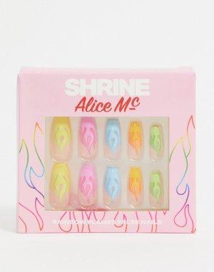Накладные ногти X Alice MC Neon Flames-Мульти The Shrine