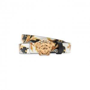 Кожаный ремень Versace. Цвет: разноцветный