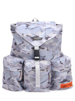Рюкзак текстильный HERON PRESTON. Цвет: голубой