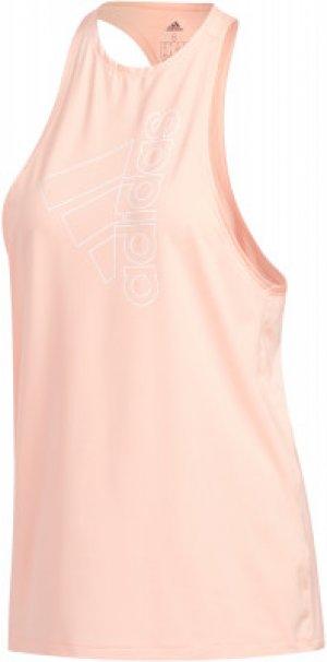 Майка женская adidas Badge of Sport, размер 46-48. Цвет: розовый
