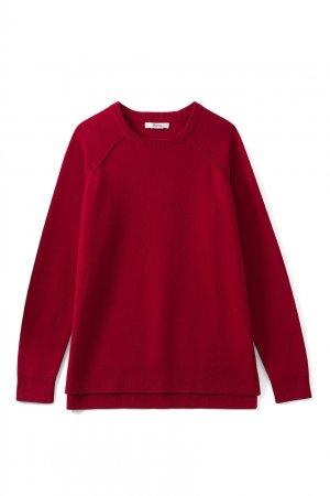 Красный свитер из кашемира Bonpoint. Цвет: красный