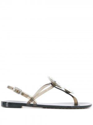 Декорированные сандалии Casadei. Цвет: черный