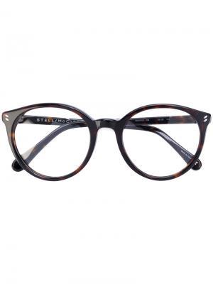 Очки в оправе круглой формы Stella Mccartney Eyewear. Цвет: чёрный