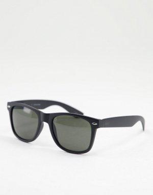 Черные квадратные солнцезащитные очки -Черный цвет Jack & Jones
