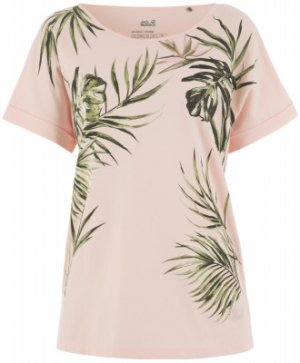 Футболка женская Jack Wolfskin Tropical, размер 50. Цвет: розовый