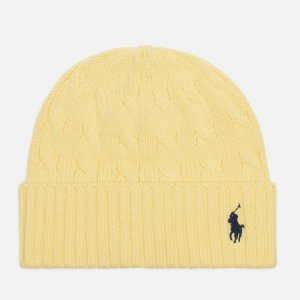 Шапка Cable Cotton Cold Weather Polo Ralph Lauren. Цвет: жёлтый