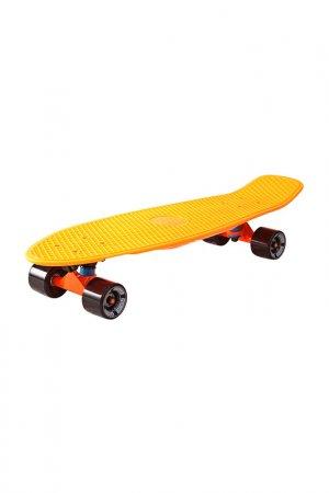 Скейтборд с сумкой Y-SCOO. Цвет: оранжевый, черный