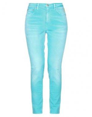 Джинсовые брюки MELTIN POT. Цвет: бирюзовый