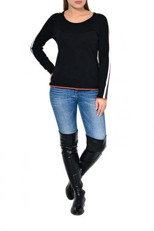 Блузка Caterina Leman. Цвет: 1209 оранжевый, черный