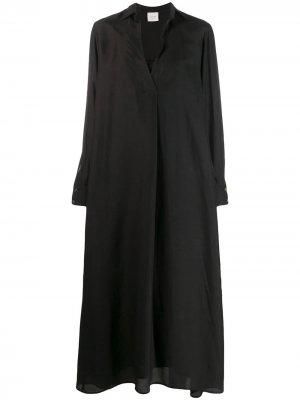 Платье-рубашка Alysi. Цвет: черный